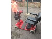 Red mobility scooter needs a battery