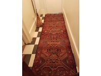 """Runner (Rug), Traditional Afghan in very good condition, 112"""" x 34.5"""" from NS home, family heirloom"""