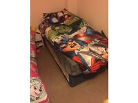Nearly new single bed with matress