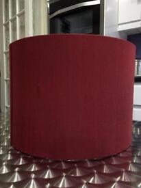 RED SILK LAMPSHADE by John Lewis