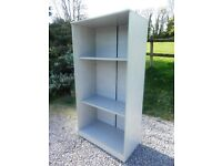 Large Open Bookcase with Adjustable Shelves in Grey