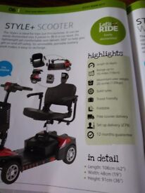 Style + light weight scooter comes apart for storage/travel.