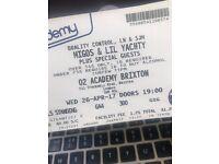 MIGOS tickets tonight at the O2