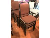 Brown Stackable Banquet Chairs