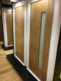 Clearance sale on pre finished oak Ibiza with frosted glass doors