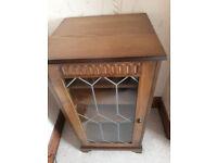 Hi Fi Cabinet in medium oak