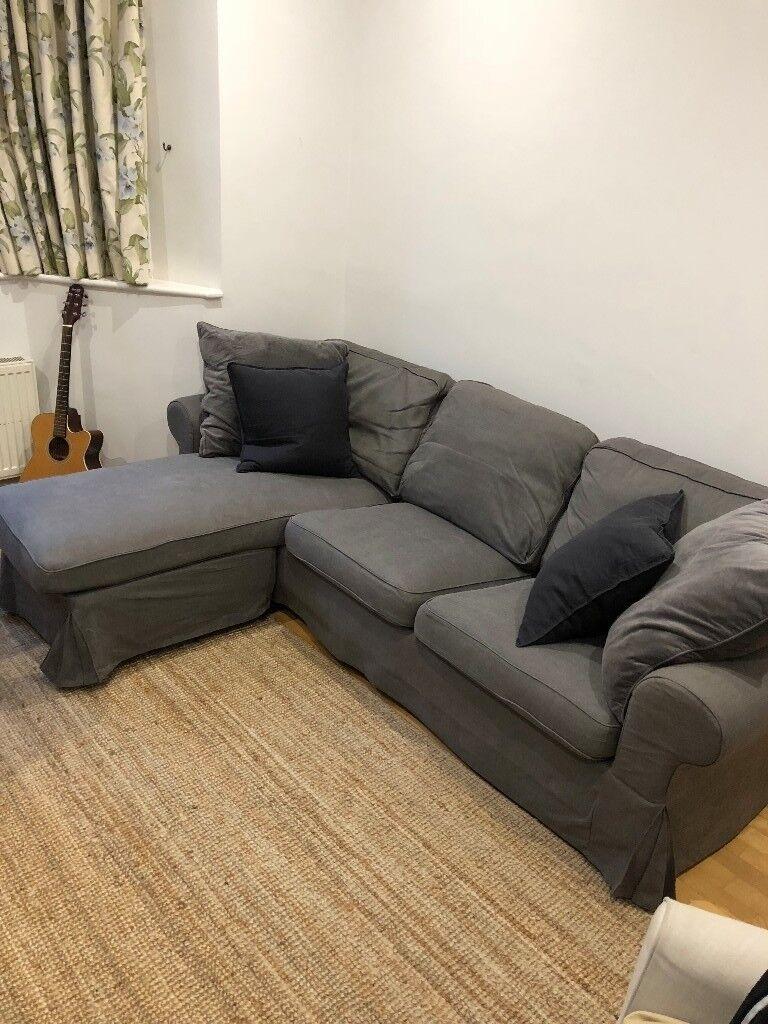 Ikea Sofa 3 Seat Sofa Ektorp With Chaise Longue Nordvalla
