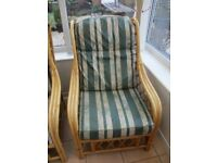Cane/Wicker chair: Very Good Condition! Free Delivery Possible!