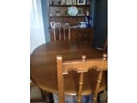 Ercol - extendable dining table and 6 chairs. well loved. - GRT UPCYCLE PROJECT?