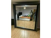 👌🌈 BRAND NEW 2 & 3 DOOR SLIDING WARDROBE WITH FULL MIRRORS AND GLOSS STRIP, LED OPTIONS 💖🔥