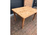 Rustic farmhouse style solid table