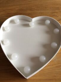 Heart shaped bedroom light (battery operated)