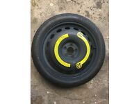18 Inch Space Saver Spare Wheel and Tyre VW AUDI SEAT SKODA 125/70 R18 99M