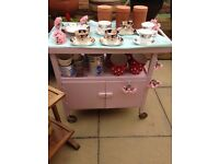 Shabby Chic Pink Tea Trolley