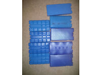 9 Ice Packs - Assorted - Used
