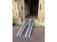 FREE TO A GOOD HOME. Extendable wheelchair ramps up to 6 ft/2 metres long