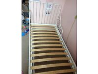 Single bed frame. Ikea MINNEN. Extendable with slatted bed base. 80x200cm