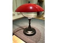 Red table lamp. Vintage style, made by Soho Home. Used. Excellent condition.