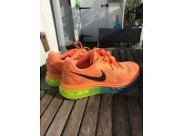 Size 4.5 Nike Air Max in Orange, Yellow and Blue