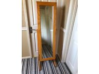 Freestanding mirror with lockable, concealed jewellery storage