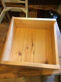 Solid pine farmhouse draws