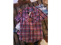 Men's SuperDry Checked Short Sleeved Shirt • Small • New with labels