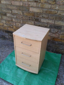 Bedside Cabinet / Table With 3 Draws (READ AD)