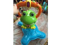 V tech baby and toddler frog bouncer