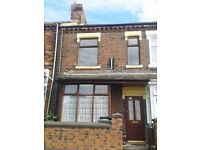 ***LET BY*** 3 BEDROOM MID-TERRACED PROPERTY-ETRURIA -LOW RENT- DSS ACCEPTED-NO DEPOSIT