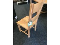 Six brand new-solid OAK chairs