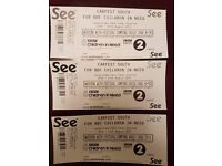 Carfest South Weekend Camping Tickets 1 x Adult & 2 Children
