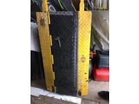 Safety cable ramps