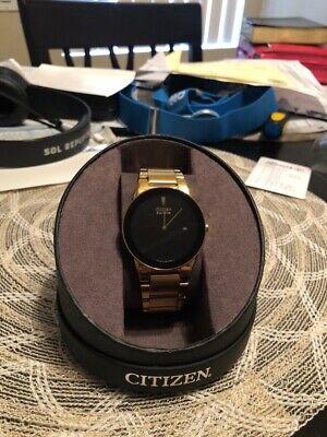 Citizen Men's AT2242-55E Axiom Analog Display Japanese Quartz Gold Watch