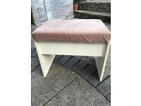 Cushioned Desk Chair/Stool with lifting lid for enclosed storage - Good Condition