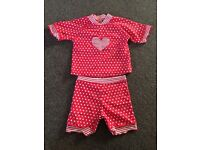 Red spotty sun it suit size 2-3 yrs