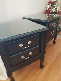 Beautiful black bedside tables/cabinets