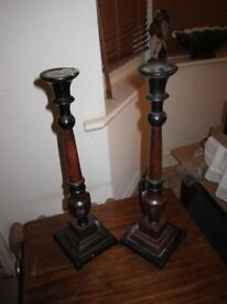 Solid metal candle stands antique style