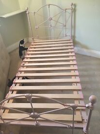 Laura Ashley pink metal bed frame single 3""