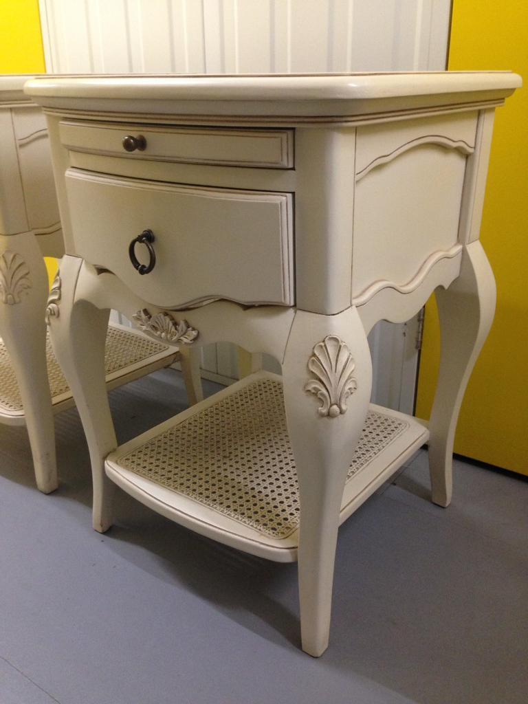 Pair John Lewis Sophia French Style Bedside Cabinets Tables Laura Ashley Habitat Raft Oka