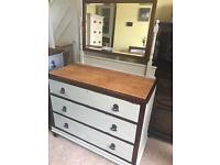 Up Cycled Antique Solid Oak Dressing Table (Can Deliver)