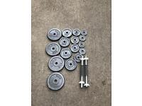 40KG METAL DUMBBELL SET WEIGHT LIFTING