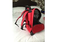 Pet rucksack / pull a long for small dog or old small dog