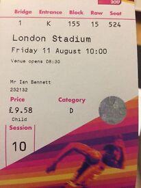 IAAF world athletics championship tickets