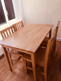 Teak wood Table and 4 Chairs. 6 months old