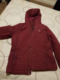 Jack Wolfskin burgundy quilted jacket
