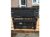 Amps and equalisers for sale