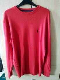 Brand New Red Polo Ralph Lauren Jumper With Tags
