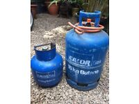 Calor gas bottles and regulator