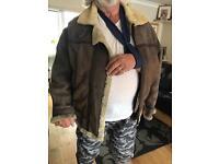 Genuine sheepskin flying jacket