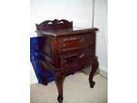 French Mahogany Bedside Table
